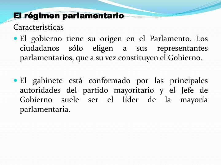 El régimen parlamentario