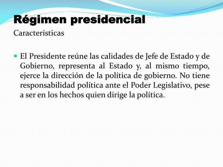 Régimen presidencial