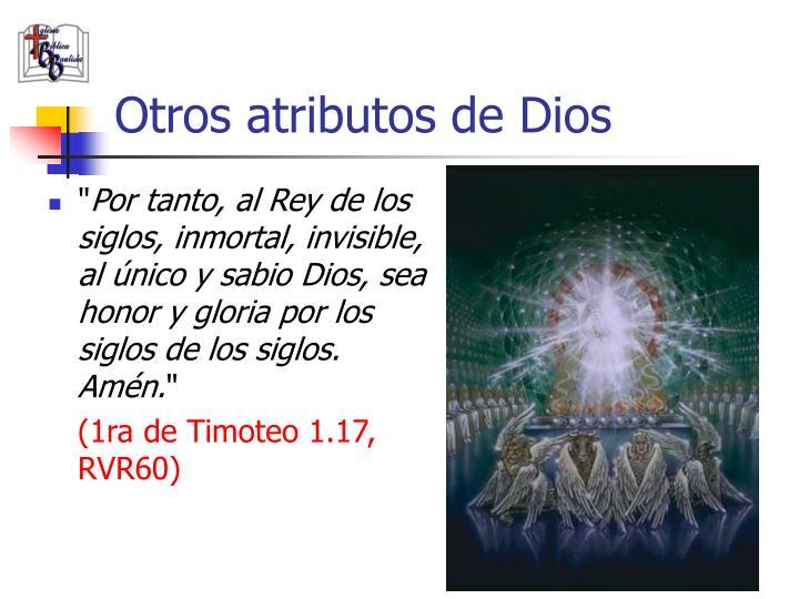 Otros atributos de Dios