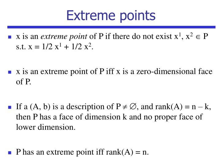 Extreme points