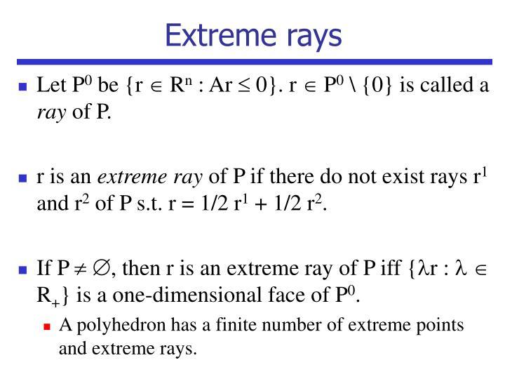Extreme rays