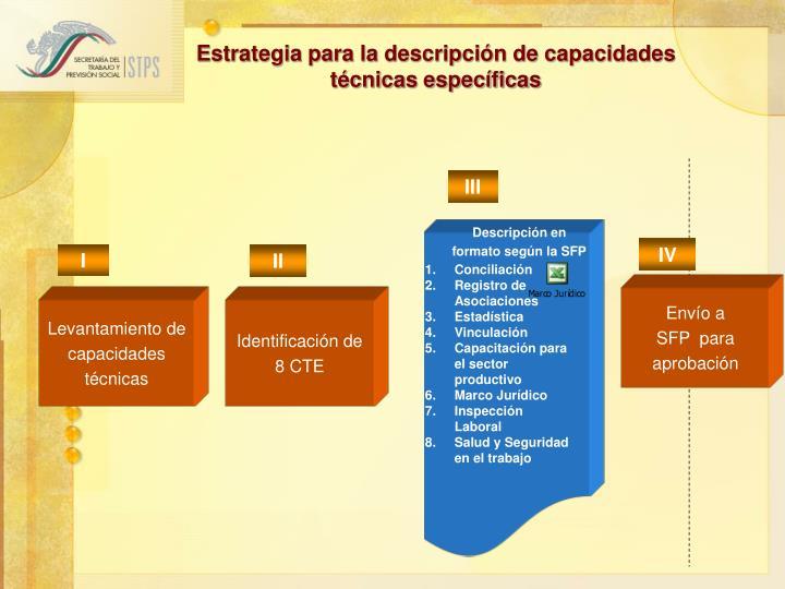 Estrategia para la descripción de capacidades técnicas específicas