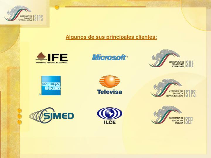 Algunos de sus principales clientes: