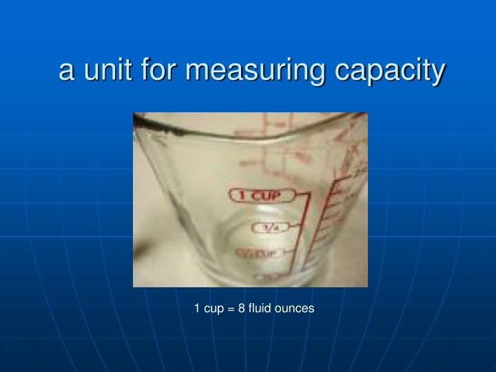 a unit for measuring capacity
