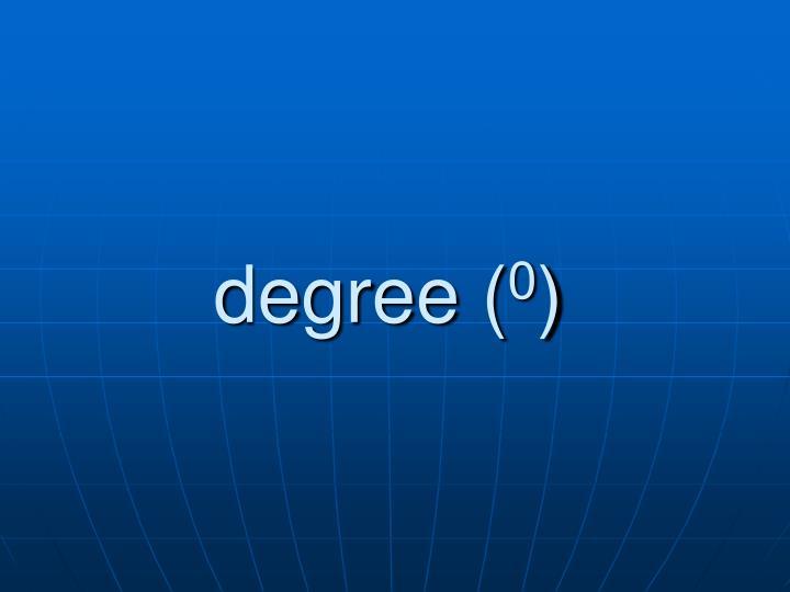 degree (