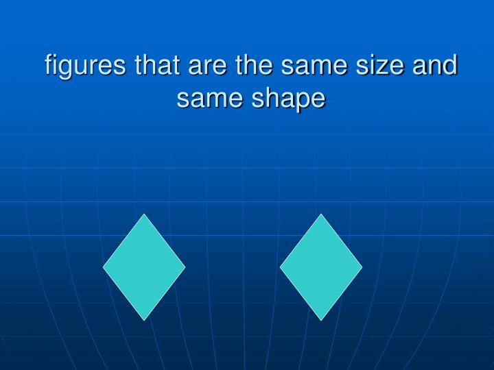 figures that are the same size and same shape