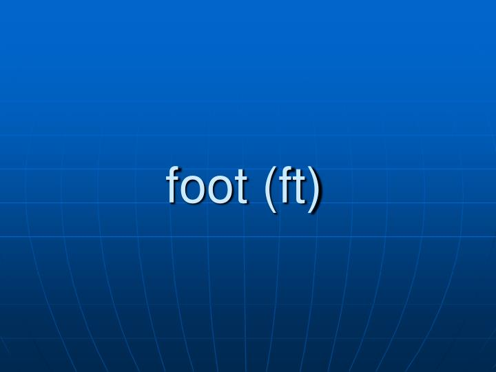foot (ft)