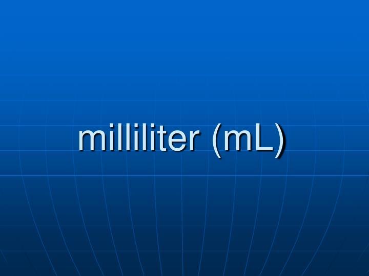milliliter (mL)