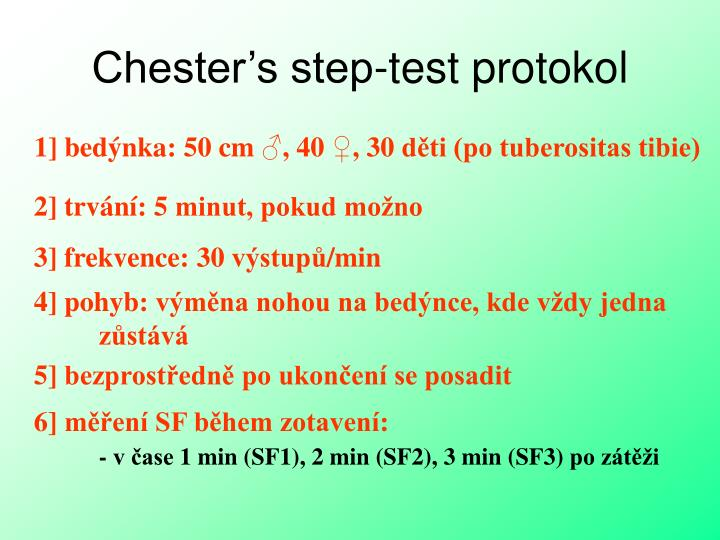 Chester's step-test proto