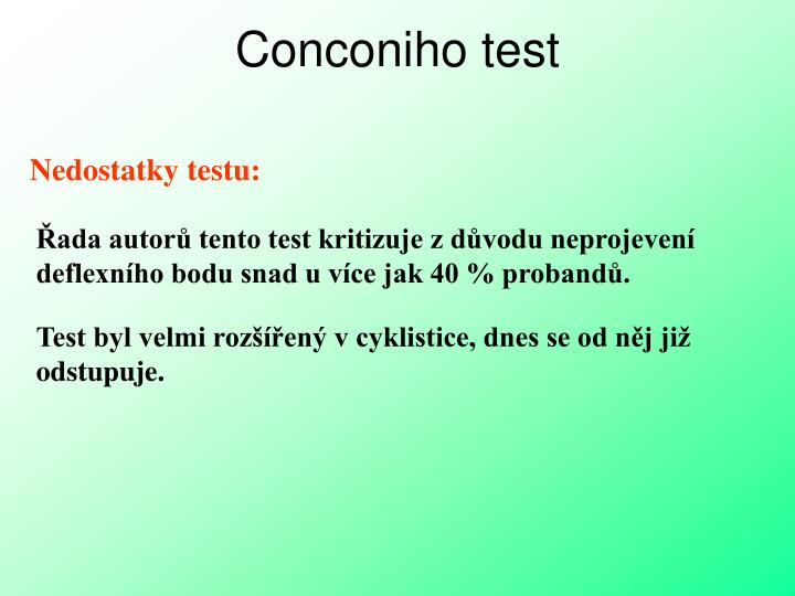 Conconiho test