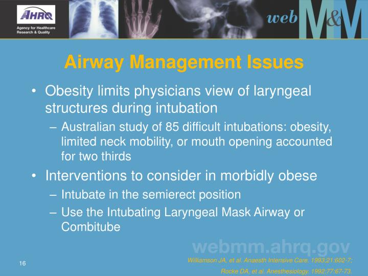 Airway Management Issues