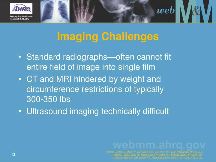 Imaging Challenges