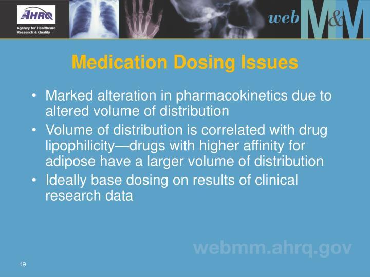 Medication Dosing Issues