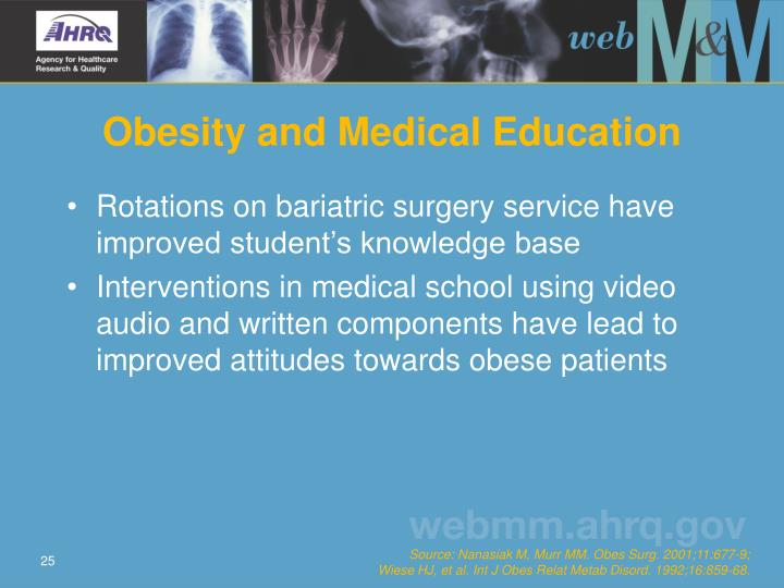 Obesity and Medical Education