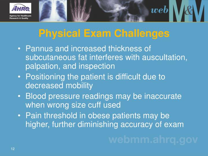 Physical Exam Challenges