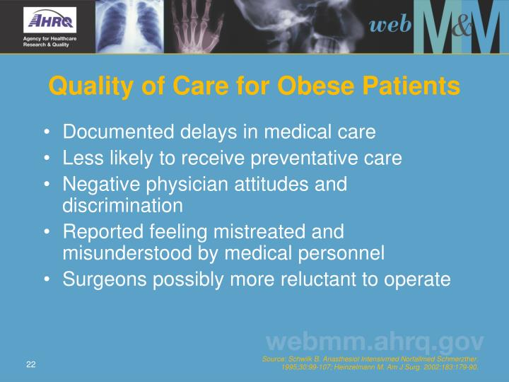 Quality of Care for Obese Patients