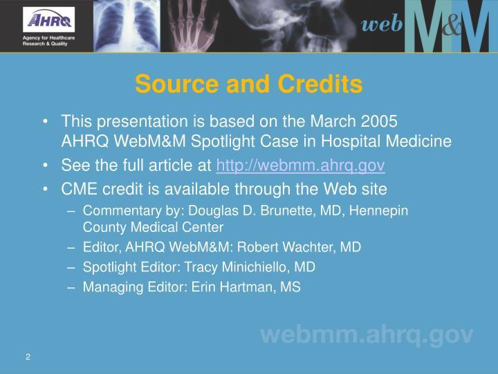Source and Credits