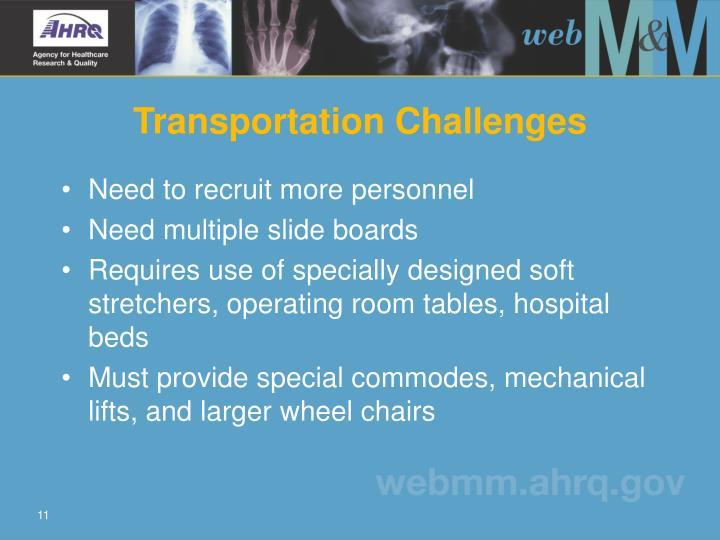 Transportation Challenges