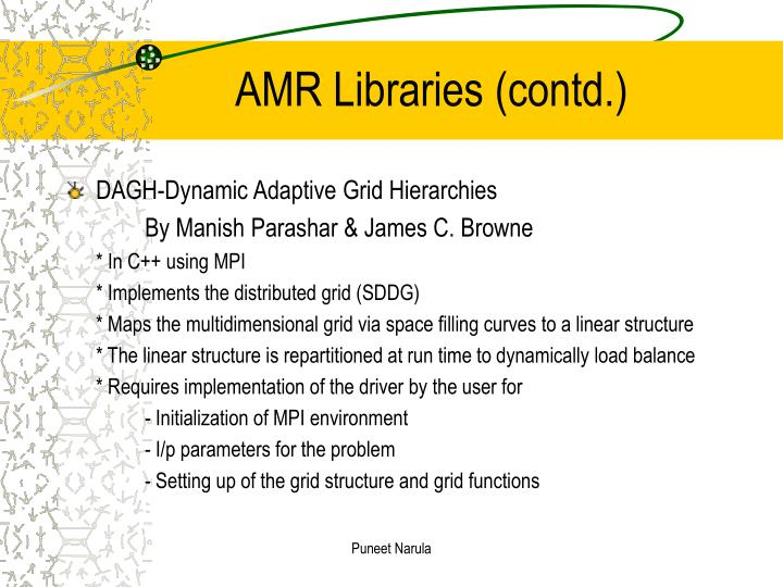 AMR Libraries (contd.)
