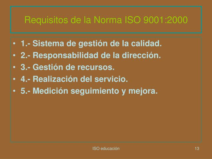 Requisitos de la Norma ISO 9001:2000