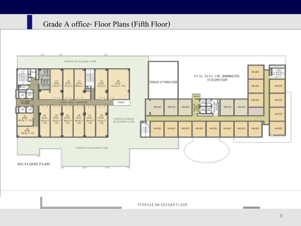 Grade A office- Floor Plans (Fifth Floor)