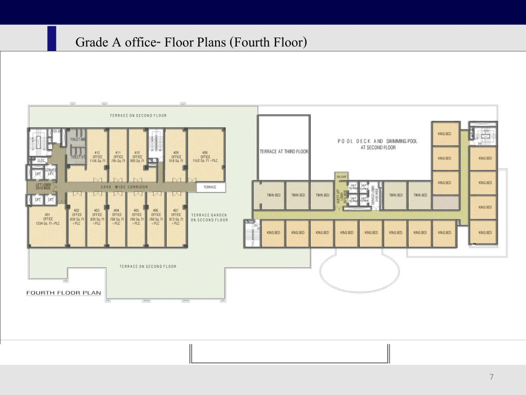 Grade A office- Floor Plans (Fourth Floor)