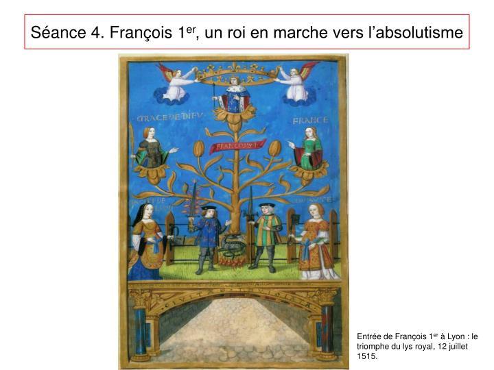 Séance 4. François 1