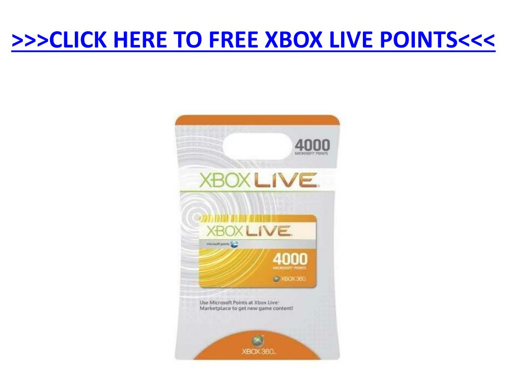 click here to free xbox live points
