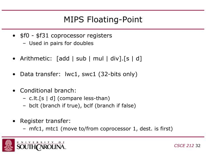 MIPS Floating-Point