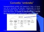 concetto ombrello