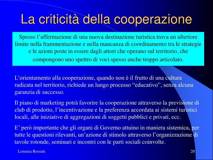 La criticità della cooperazione