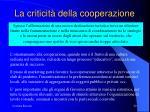 la criticit della cooperazione