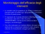 monitoraggio dell efficacia degli interventi
