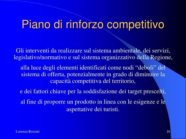 Piano di rinforzo competitivo