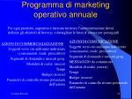 programma di marketing operativo annuale