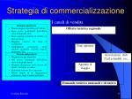 strategia di commercializzazione