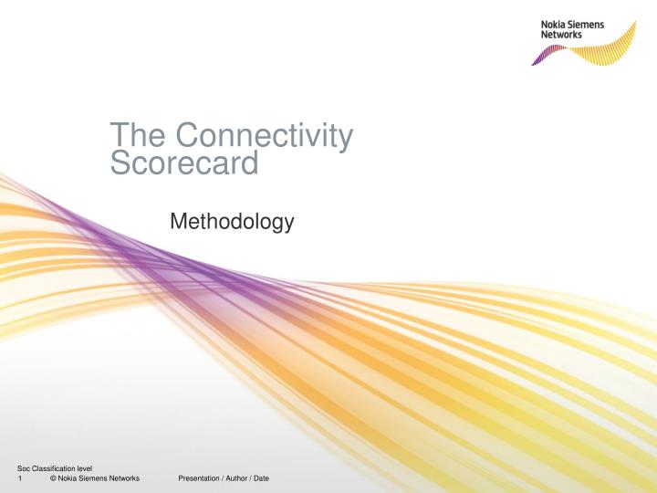 The connectivity scorecard