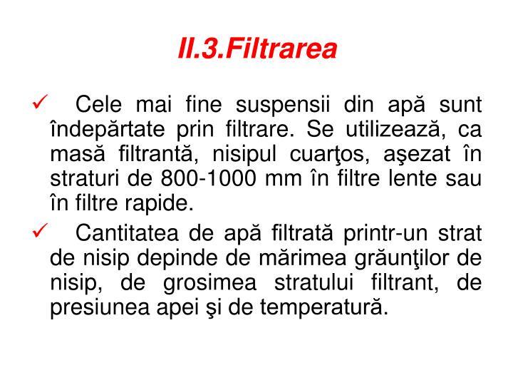 II.3.Filtrarea