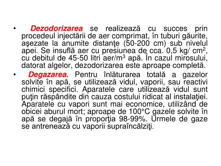 Dezodorizarea