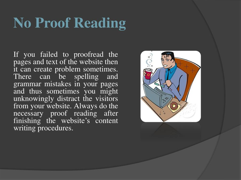 No Proof Reading