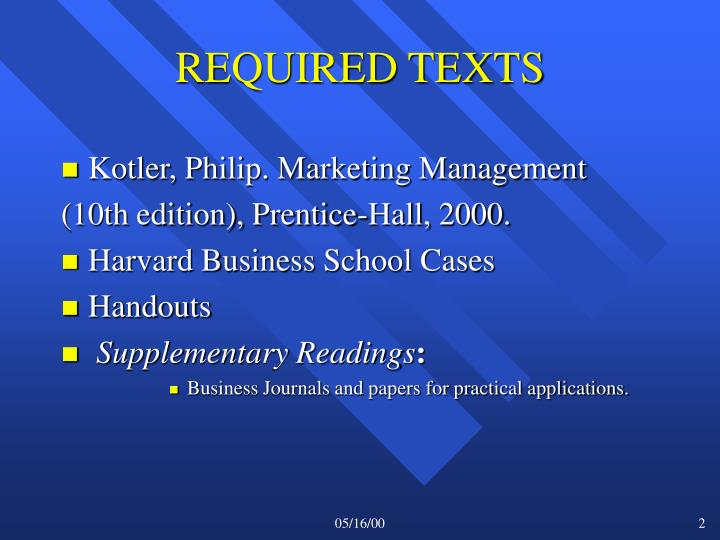 REQUIRED TEXTS