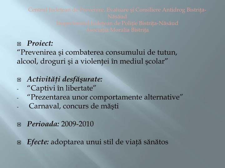 Centrul Judeţean de Prevenire, Evaluare şi Consiliere Antidrog Bistriţa-Năsăud