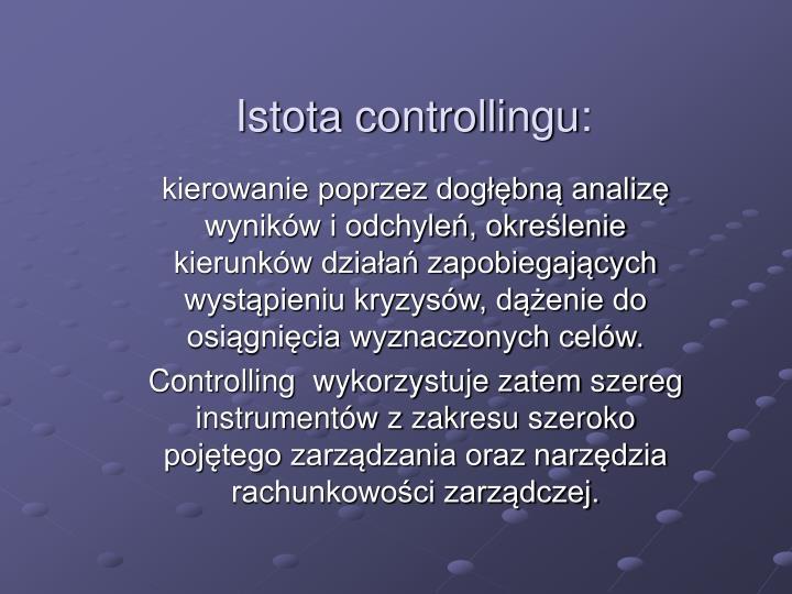 Istota controllingu: