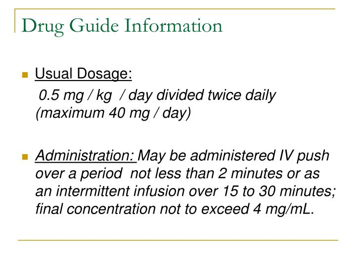 Drug Guide Information