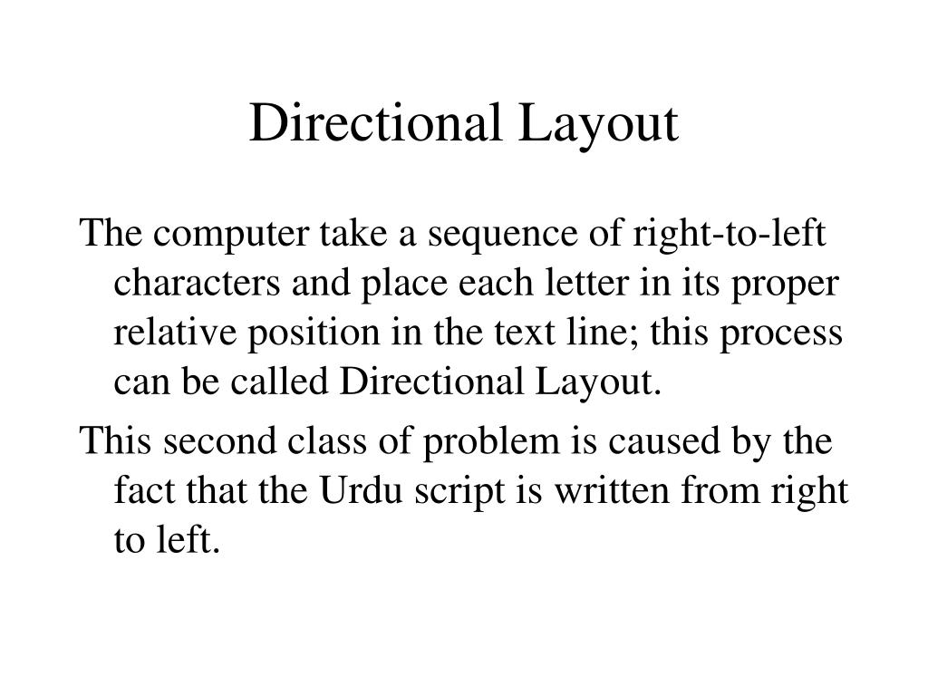 Directional Layout