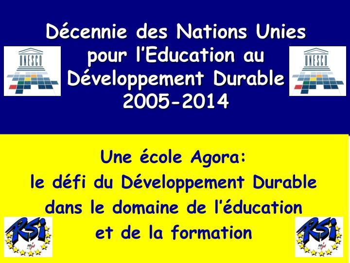 Décennie des Nations Unies
