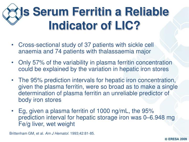 Is Serum Ferritin a Reliable