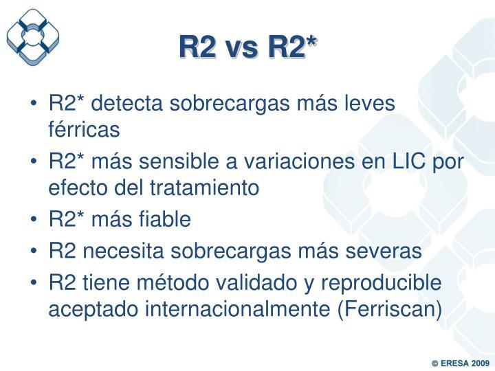 R2 vs R2*