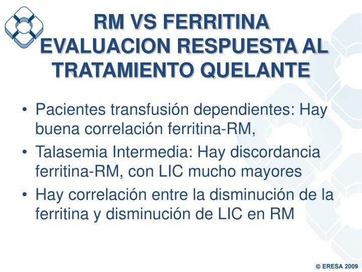 RM VS FERRITINA
