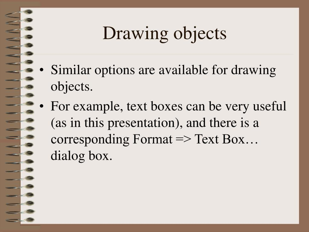 Drawing objects